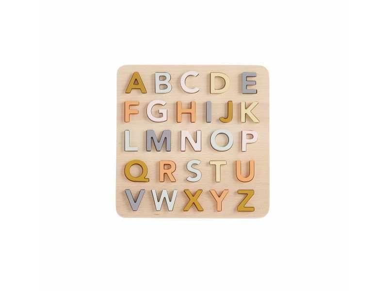 Puzzle dřevěné abeceda, Kids Concept