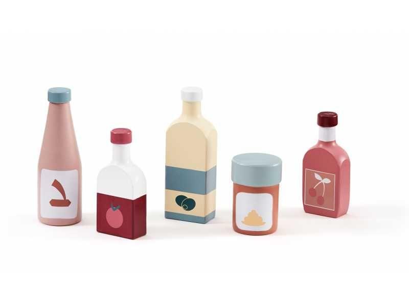 Láhve dřevěné 5 ks Bistro, Kids Concept