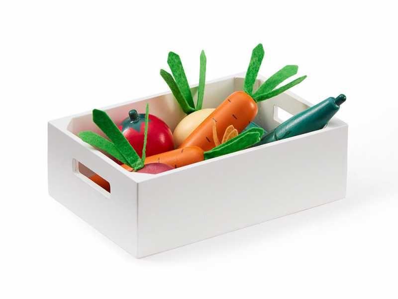 Zelenina v bedýnce dřevěná Bistro, Kids Concept