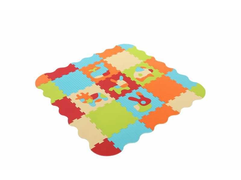 Puzzle pěnové 120x120 cm Zvířátka, Ludi