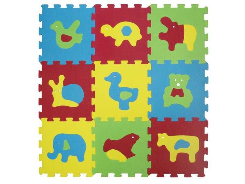 Puzzle pěnové 84x84 cm zvířátka Basic, Ludi