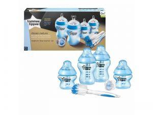 Tommee Tippee Sada kojeneckých lahviček C2N s kartáčem modrá