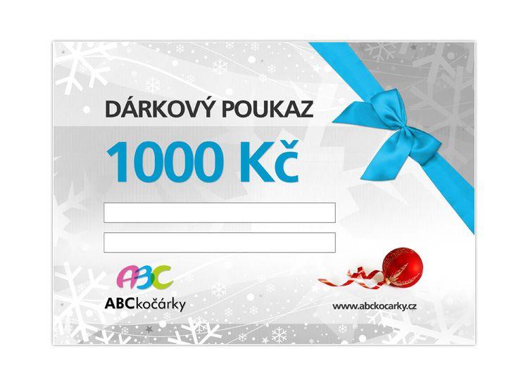 Dárkový poukaz na 1000 Kč ABC kočárky