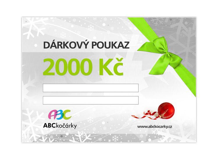 Dárkový poukaz na 2000 Kč ABC kočárky