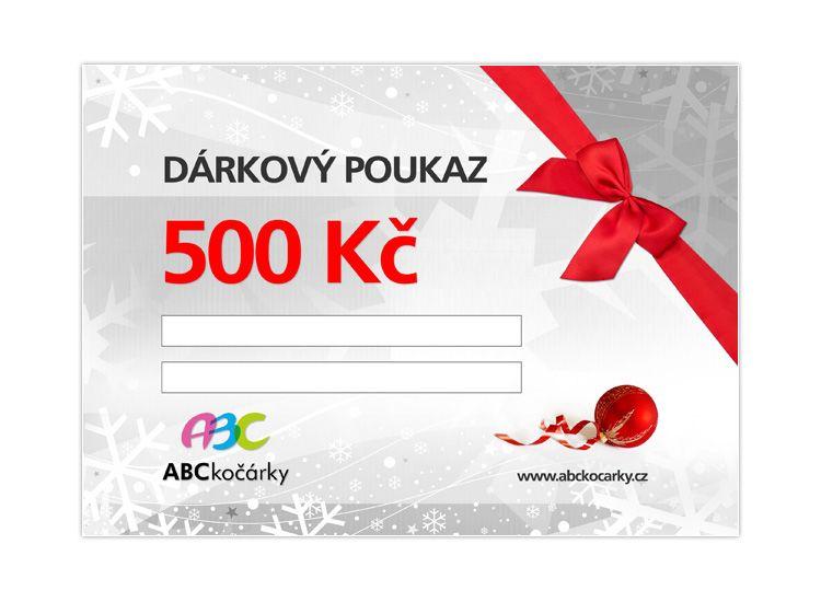 Dárkový poukaz na 500 Kč ABC kočárky