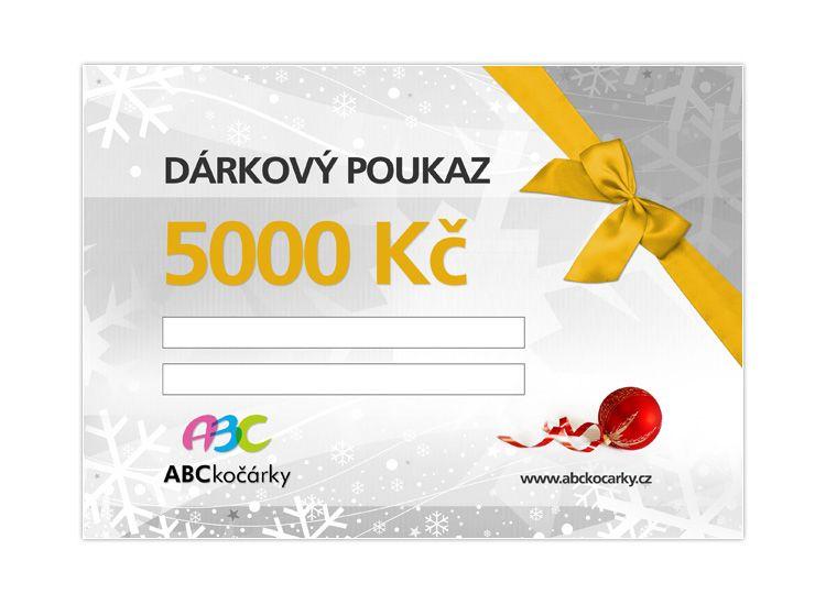 Dárkový poukaz na 5000 Kč ABC kočárky