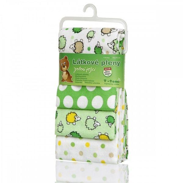 Látkové pleny, Green Hedgehogs/zelení ježci, T-tomi