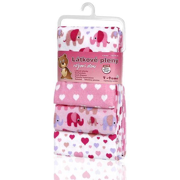 Látkové pleny, Pink Elephants/růžoví sloni, T-tomi
