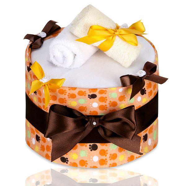Plenkový dort Large Orange Paws/velké oranžové tlapky, T-tomi