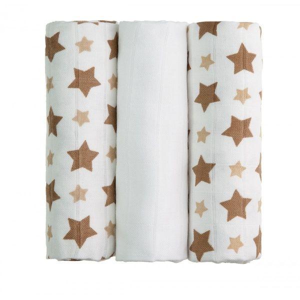 BIO Bambusové pleny Beige Stars/béžové hvězdičky T-tomi