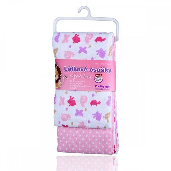 Látkové osušky Pink snails/růžoví šneci, T-tomi