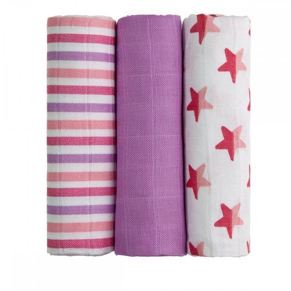 BIO Bambusové pleny Pink Stars/růžové hvězdičky T-tomi