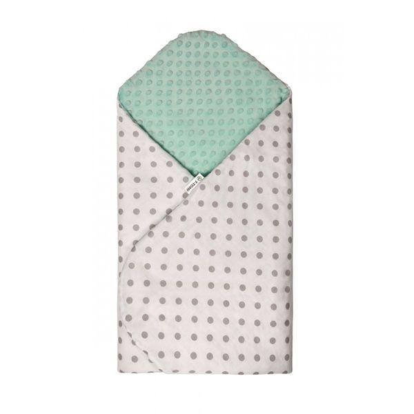 Rychlozavinovačka MINKY, White-Green/Grey Dots, T-tomi