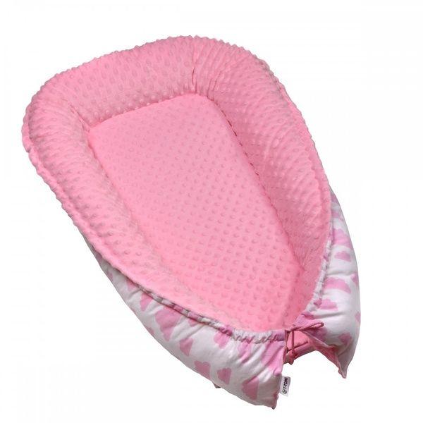 Hnízdečko pro miminko Minky, White/Pink clouds, T-tomi