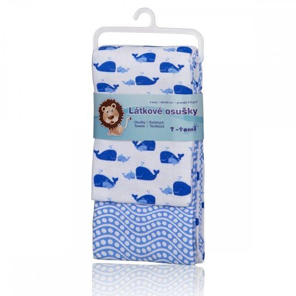 Látkové osušky Blue ocean/modrý oceán, T-tomi