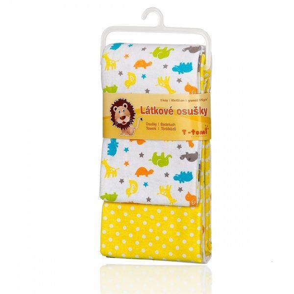 Látkové osušky Yellow Afric /Žlutá Afrika T-tomi