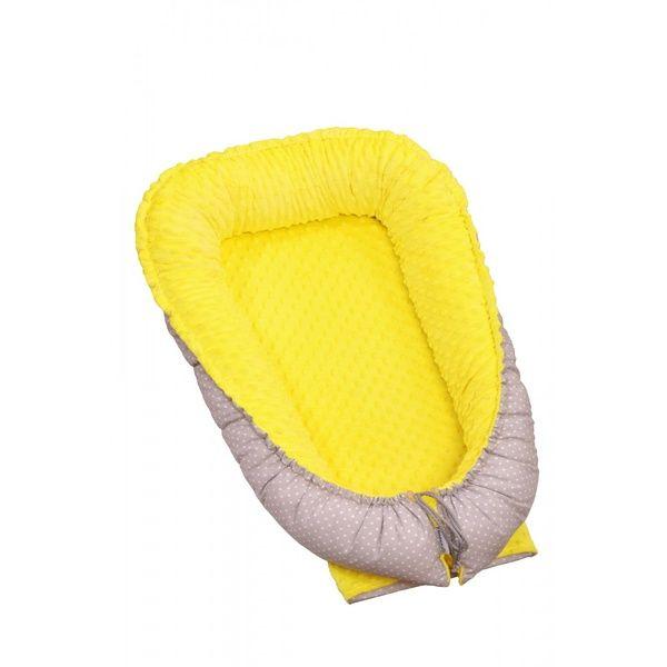 Hnízdečko pro miminko Minky, Yellow/ Little Grey Dots, T-tomi