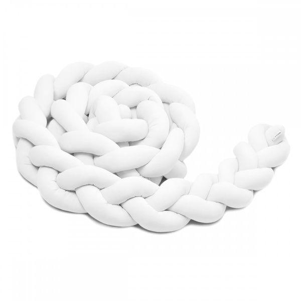 Pletený mantinel 180cm, white, T-tomi