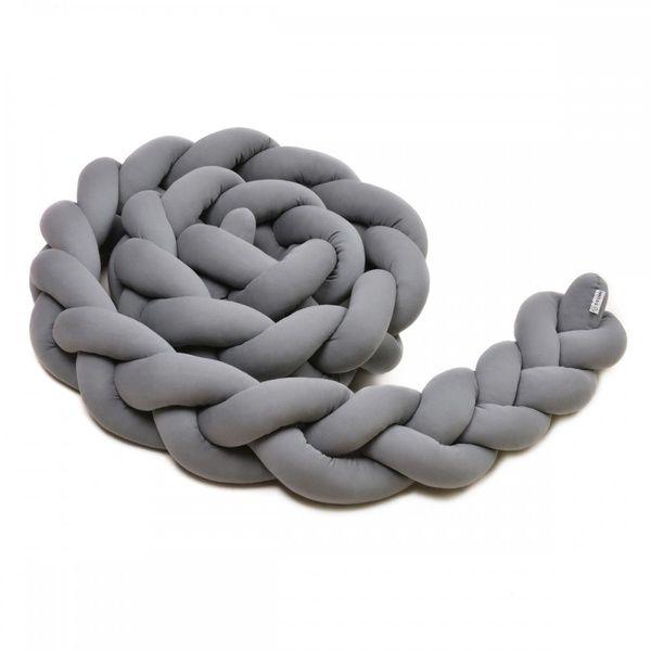 Pletený mantinel 180cm, anthracite, T-tomi