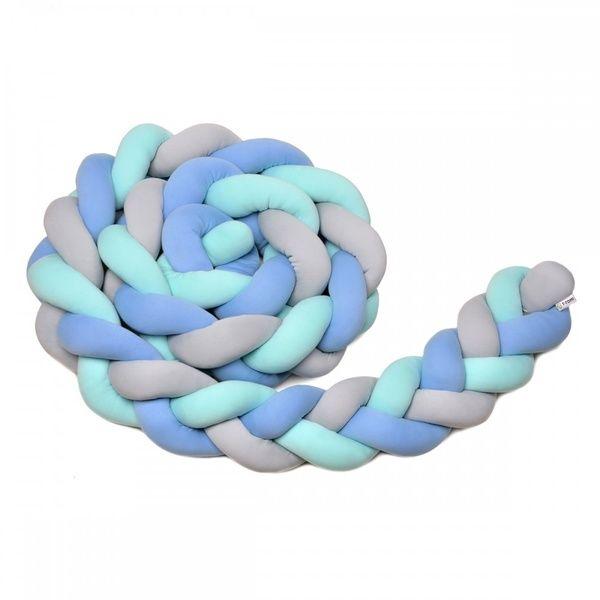 Pletený mantinel 360cm, Mint, Blue, Grey, T-tomi