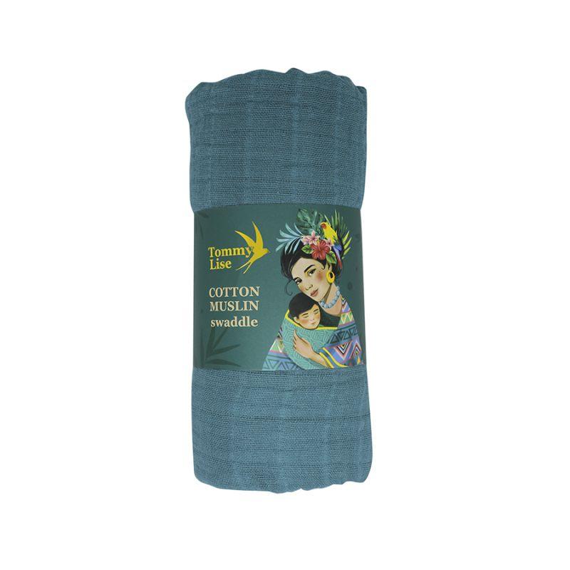 Bavlněná mušelínová plena, Foggy Blue Tommy Lise