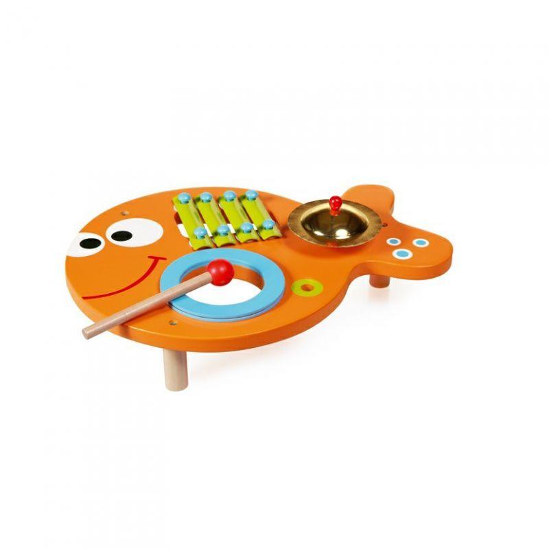 Hudební stolek 3v1 Rybička, Scratch